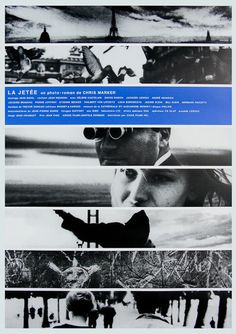 Japanese poster for LA JETÉE (Chris Marker, France, 1962) Designer: unknown Poster source: Film on Paper R.I.P. Chris Marker (1921 2012)
