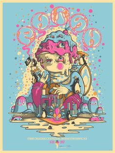 Phish Poster by Drew Millward #screen #illustration #print #poster