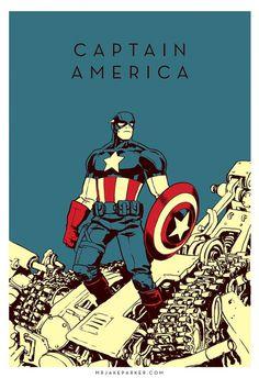 Spectacular Avengers Captain America #captain #avengers #illustration #minimal #america