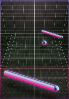 #atari #pong #80's #wave #levitate #design #poster #arcade #depth #game #bars #