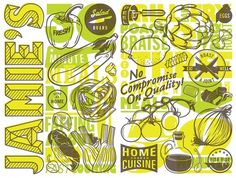 Jamie's 30 Minute Meals – Ilovedust – Illustrators & Artists Agents – Début Art #veggies #fruit #typography