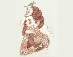 liz clements #illustration #girls