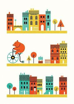 Edward McGowan, Penny for your thoughts Parko Polo #illustration #minimal #buildings