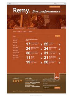 Website Remy van Kesteren (The Ad Agency, www.theadagency.nl) #agency #the #website #ad #webdesign #music
