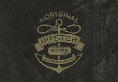 Hipster Meter App #lettering #hipster #illustration #type #hand