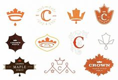 Crown Maple Syrup Logos #logos