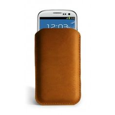 Mujjo Samsung Galaxy S3 Sleeve - Brown Leather Edition