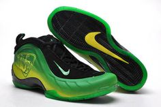 Nike Air Flightposite 5 Green/Black NBA Shoes #shoes