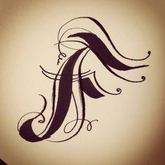 Calligraphy Capital by Biljana Kroll #calligraphy