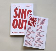 SIGN OUT at Hackney Empire design by them.co.uk #music #flyers #red