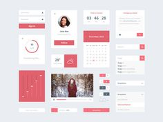 Cherry UI #flat #colour #soft #modern