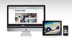 Friction #clothing #letterpress #hang #website #hangtags #tag #webdesign #hangtag #jeans