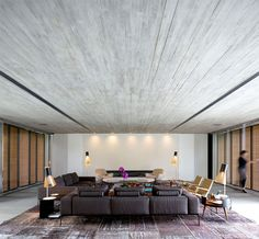 Minimalist P House Made Of Concrete and Wood - #decor, #interior, #homedecor, home decor, interior design