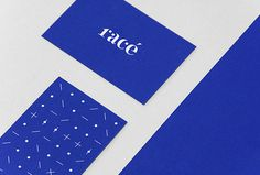 Racé by Studio Weidemüller #logo #business card #graphic design #print #stationary