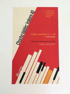 UMS Event - Musician Cucho Valdes. #Poster #Music #Cuban #Jazz #Piano #abstract