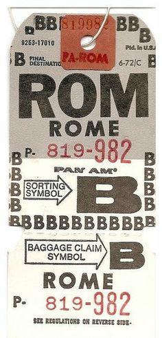 VintageLuggageTag_Rome #tag