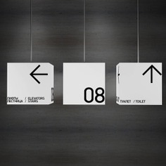 Wayfinding | Signage | Sign | Design 黑色极简主义标识系统