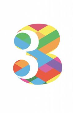 Luke Ferrand Studio | Page 2 #typography #geometric #numeral #number #three #colour