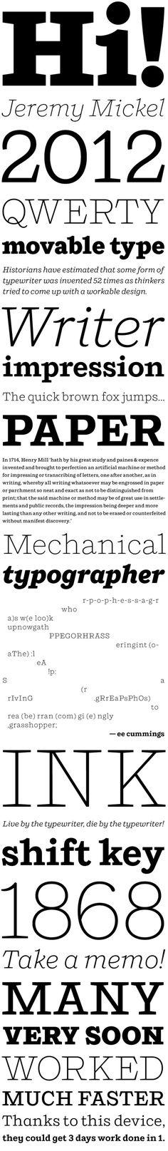 Shift by Jeremy Mickel #typography #type #font #slab #serif #mckl