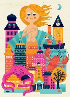Modern Day Venus by Tad Carpenter #illustration #city #venus #tad carpenter
