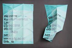 Woifi Ortner — Graphic Designer #akkurat #triangle #folded #poster #type