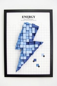 3D Paper Infographics #diagram #paper #electricity #craft