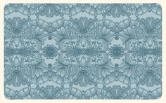 Flowered patterns on the Behance Network