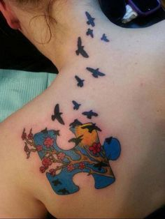 40+ Cool Puzzle Piece Tattoo Design Ideas #tattoo #puzzle #piece