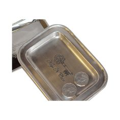 Tray Silver Rectangle Keys and Coins 19cm x 14cm