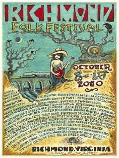 Richmond Folk Festival 2010 Poster #festival #wes #gothic #illustration #freed #poster #southern