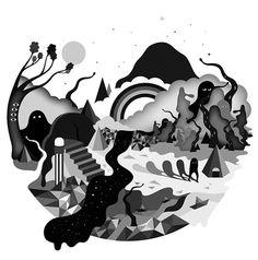 Onesidezero Illustration : Artwork by Brett Wilkinson