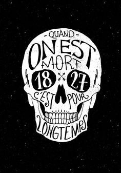 Skull #handdrawn #french #skull #death #typography