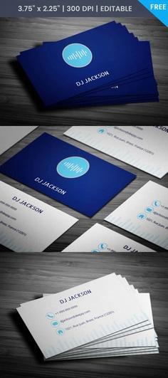 Free Dj Jackson Business Card Template