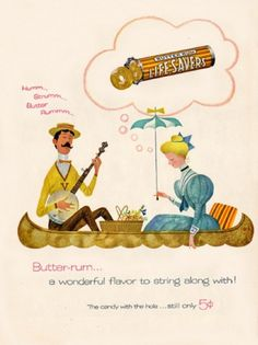 Free Flavour » Vintage Lifesavers Advert #candy #illustration #vintage #savers #sweets #life