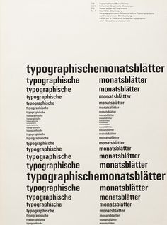 Cover from 1961 issue 4 | Cover Design Emil Ruder Typeface Univers | (1914–70) Swiss typographer who studied in Zurich and taught at the S #layout #swiss #typography