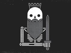 Dead king dribbble #skull #sword