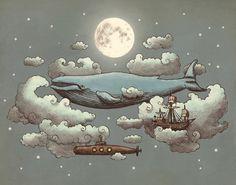 Ocean Meets Sky Art Print | Society6