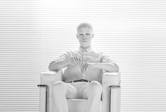 Shaun Ross. Upton Belts MMXV shoot by Wedge and Lever. #blinds #whiteonwhite #smoke #walking #throne #sculpture #upton #belt #belts #Shaun #