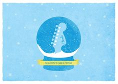 Jon Ashcroft Design & Illustration #holidays #fender #globe #snow #illustration