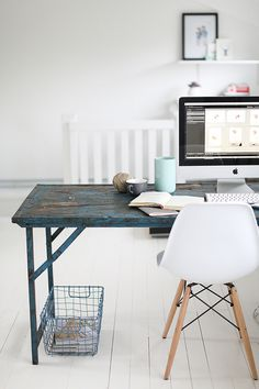w h i t e – TheCozySpace #white #office #home #desk #workspace