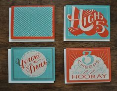 Hooray For You Hand Printed Card Set of 8 by MaryKateMcDevitt #you #mary #illustration #hooray #mcdevitt #for #kate