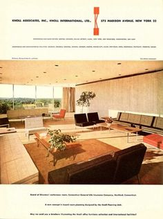 board room | Flickr - Photo Sharing! #interior #1950s #knoll #vintage #advert #life #general