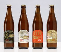 Fort Point Beer Bottles #beer #packaging #identity #label #bottle #gold