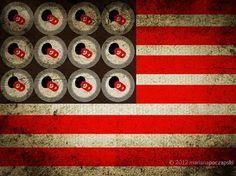 cheers!!! #flag #usa #illustration #cheers