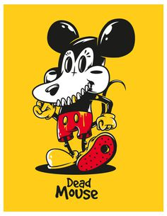 Dead Mouse on Behance #mouse #design #illustration #tee #dead #character