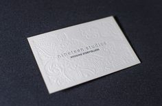 Stunning Letterpress Business Card #business #edges #card #painted #letterpress #cotton #paper