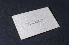 Stunning Letterpress Business Card
