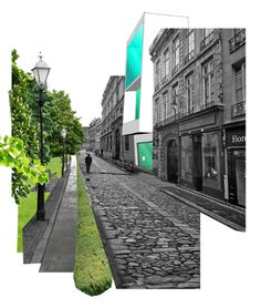 Kategxc3xb3rixc3xa1k / Categories #urban #rue #old #cobble #house #stone #montage #street #trees #green