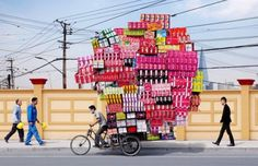 Photo Series Shows Chinese Porters Delivering Enormous Cargo on Bikes | Complex #photo #series