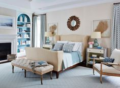 10 Signs That You Should Become An Interior Decorator #beige #traditonal #design #bedroom #decor #decorator #bed #blue